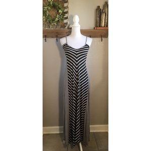 Puella Anthropologie Chevron Striped Maxi Dress